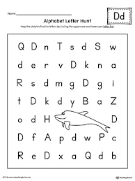 say and trace letter d beginning sound words worksheet