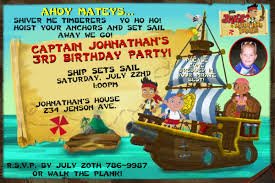 jake and the neverland birthday jake and the neverland birthday party invitations