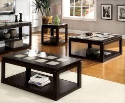 Coffee Table Set Coffee Table Set With Drawers Espresso Huntington Beach Furniture