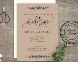rustic wedding invitations cheap cheap invitation etsy