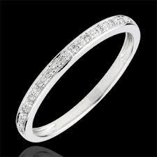 alliance en diamant alliance eclats de diamant or blanc 9 carats et diamants demi