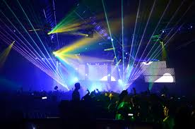 halloween laser lights chauvetdj adds punch to nyc u0027s pier of fear halloween edm festival