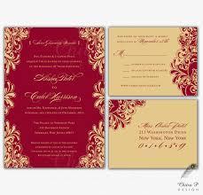 red u0026 gold wedding invitations rsvp printed indian