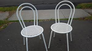 Retro Metal Patio Chairs Lawn Garden Chic Matching Pair Of Vintage Outdoor Patio Chair