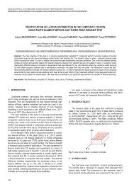 identification of layers distribution in the composite coupon