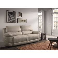 canapé cuir gris clair le mans canapé droit de relaxation en cuir 3 places 210x98x97 cm