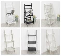furniture fascinating interior using leaning ladder shelves for