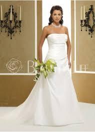 plain wedding dresses 286 99plain pleated satin strapless a line sweep wedding dress