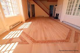 Hardwood Floor Inlays Custom Multi Wood Inlay Flooring Installation In Mackinaw Island