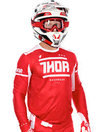 thor motocross gear nz thor red white 2016 prime fit mx jersey thor freestylextreme