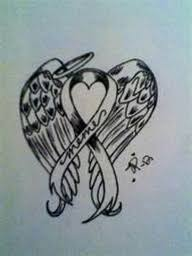 lung cancer ribbons tattoos lung cancer ribbon designs