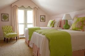 pink and green room bedroom lovely girl bedroom with double white comfort bed and
