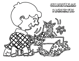 presents and gifts coloring pages