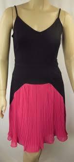 chic dress city chic black pink strappy 50 s pleat dress plus size s 16