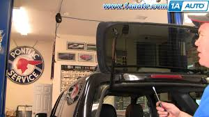 how to install replace rear glass support struts ford escape youtube