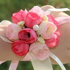 Wedding Wrist Corsage Bridal Wrist Corsage Rose Buds Wedding Party Prom Bridesmaid