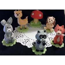 woodland animals forest animals woodland cake toppers baby