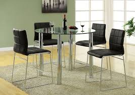 glass counter height table sets k k custom furniture kona ii black glass top round counter height