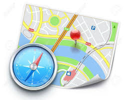 navigation map vector illustration of navigation concept with detailed blue