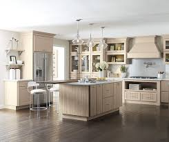 Transitional Kitchen - transitional kitchen with beige cabinets kemper cabinetry