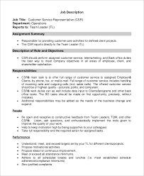 Tech Support Job Description Resume Customer Service Job Description Customer Service Representative
