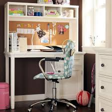 corner study area with stainless steel frame desk home design