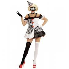 Halloween Costumes Scary Clowns Ladies Pierrot Costume Scary Clown Twisted Circus Halloween