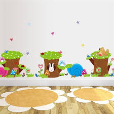 Aliexpresscom  Buy Owl Rabbit Aut Flower Tree Wall Stickers For - Kids rooms decals