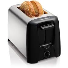 Top Rated 2 Slice Toasters Hamilton Beach Cool Wall 2 Slice Toaster Model 22614z Walmart Com