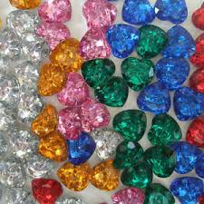 gems for table decorations heart shaped diamante crystals wedding table scatter decorations