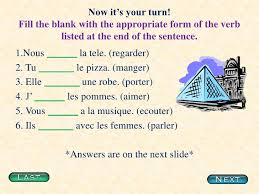 conjugating er verbs in french
