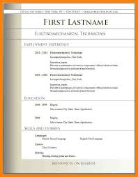 free download resume format basic format resume template free