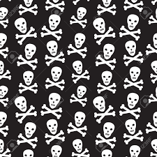 seamless halloween background seamless halloween pirate background with skulls royalty free