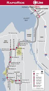 Seattle Map Downtown by West Seattle Blog U2026 1 Week Until Metro Changes Rapidride Route