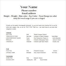 good resume format in word actor resume template word best resume collection