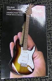 fender axe heaven mini guitar ornament reverb