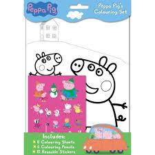 peppa pig colouring set by alligator books children u0027s colouring