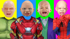 bad parents wrong heads learn colors w superhero costumes swap