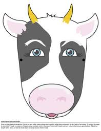printable bull mask cow face printable masks