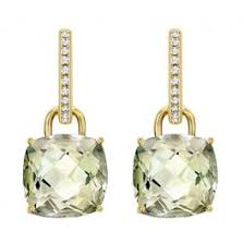 mcdonough citrine drop earrings mcdonough classic green amethyst and diamond cushion drop