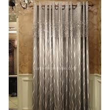curtain designer designer blackout curtain with geometric patterned silver gray