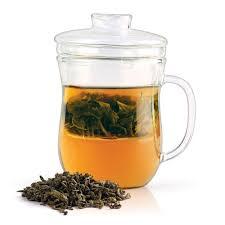 dancing leaf grácil glass tea infuser mug 300ml