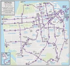 San Francisco Downtown Map by San Francisco Muni Maplets