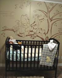 Classic Winnie The Pooh Nursery Decor Bedding Winnie The Pooh Wall Mural Bedroom Nursery Furniture Sets Grey