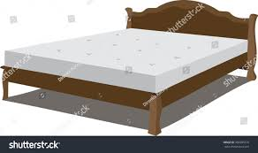 double bed large double bed stock vector 389905579 shutterstock