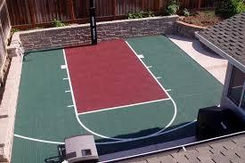 backyard sports court dimensions half backyard ideas