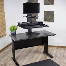 small electric standing desk best sit stand desk