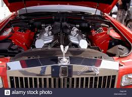 roll royce india rolls royce car red color front close up india stock photo