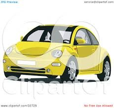 volkswagen beetle front view clipart illustration of a red vw beetle car by david rey 26484