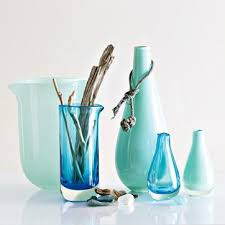 Turquoise Glass Vase Blue Glass Vase